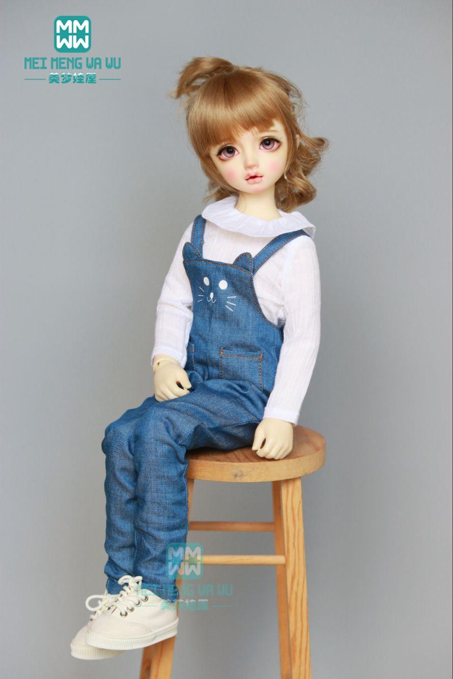 Clothes 1//4 MSD BJD Dollfie PF Khaki Overalls Pants Pants