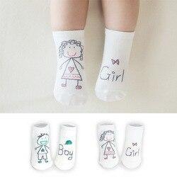 Новое поступление, носки для новорожденных, детские носки из 100% хлопка с рисунком, Нескользящие хлопковые носки для младенца