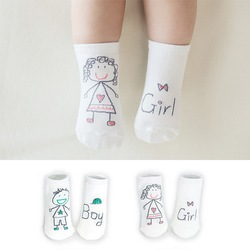 Новое поступление, носки для новорожденных 100% хлопковые носки для малышей с героями мультфильмов Нескользящие хлопковые носки для младенц...