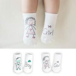 Новое поступление, носки для новорожденных, детские носки из 100% хлопка с рисунками, хлопковые носки для младенцев