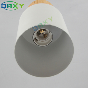 Image 5 - E27 クリエイティブシンプルな木製ペンダントライト led ブラック/ホワイトぶら下げランプ金属キッチンバーホテル寝室照明器具 suspendu [d7567]