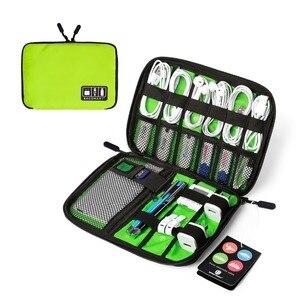 Image 4 - BAGSMART Acessórios Eletrônicos Saco de Embalagem Para O Carregador de Telefone Cabo Data USB Cartão SD Para Colocar Na Mala de Viagem Organizar
