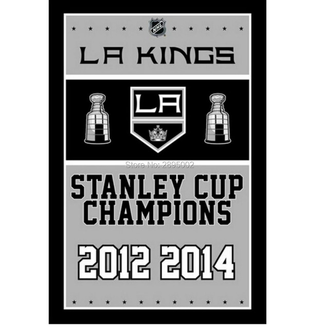 Los Angeles Kings Stanley Cup Championship Man Cave Sports Banner Flag 3 X 5