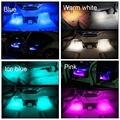 4 em 1 Car Auto Carga Interior Atmosfera Luzes LED 9 LED Decoração Da Lâmpada de Néon Tira Estilo Do Carro Azul/branco/Rosa/Azul Gelado