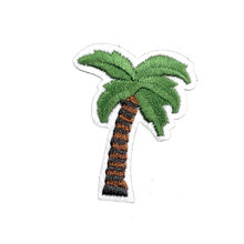 Cute Tree Leaf Patch Iron on Cartoon Patches Embroidered Patch Iron on Motif Applique Embroidery Hat Shoe Bag Accessory(China)