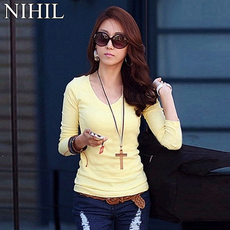 Women   Blouse   Blusas Femininas 2018 Spring Autumn Plus Size Long Sleeve   Blouses     Shirts   Fashion Woman Casual V-neck Clothing Tops