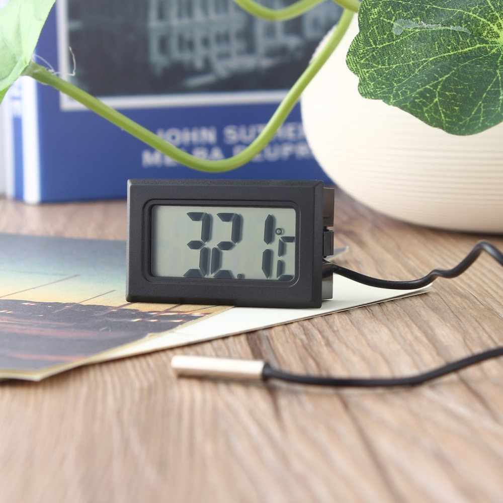 TL8009 LCD Digital Thermometer for Freezer Temperature -50~110 Degree Probe Fridge Thermometer 1m Line with LR44 Button Battery digital lcd thermometer temperature sensor fridge freezer thermometer indoor fashion thermometer digital new thermometer