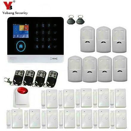 Yobang Sicherheit Wifi Gsm Home Security Alarm System Tür/fenster Sensor Detektor Rfid Karte App Fernbedienung Drahtlose Sirene Fabriken Und Minen Sicherheit & Schutz Sicherheitsalarm