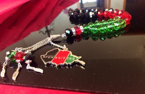Afghanistan flag T'shirt and map jewelry necklace bracelet pendant prayer beads Rosary 33 tasbih Afghan color tesbih tespih(China)