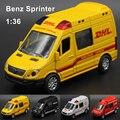 Mercedes Benz Sprinter 1:36 Diecasts Liga Modelo de Carro Carro de Brinquedo Menino Rodas quentes Carros Brinquedos Infantis para Crianças Máquinas Brinquedos para Meninos