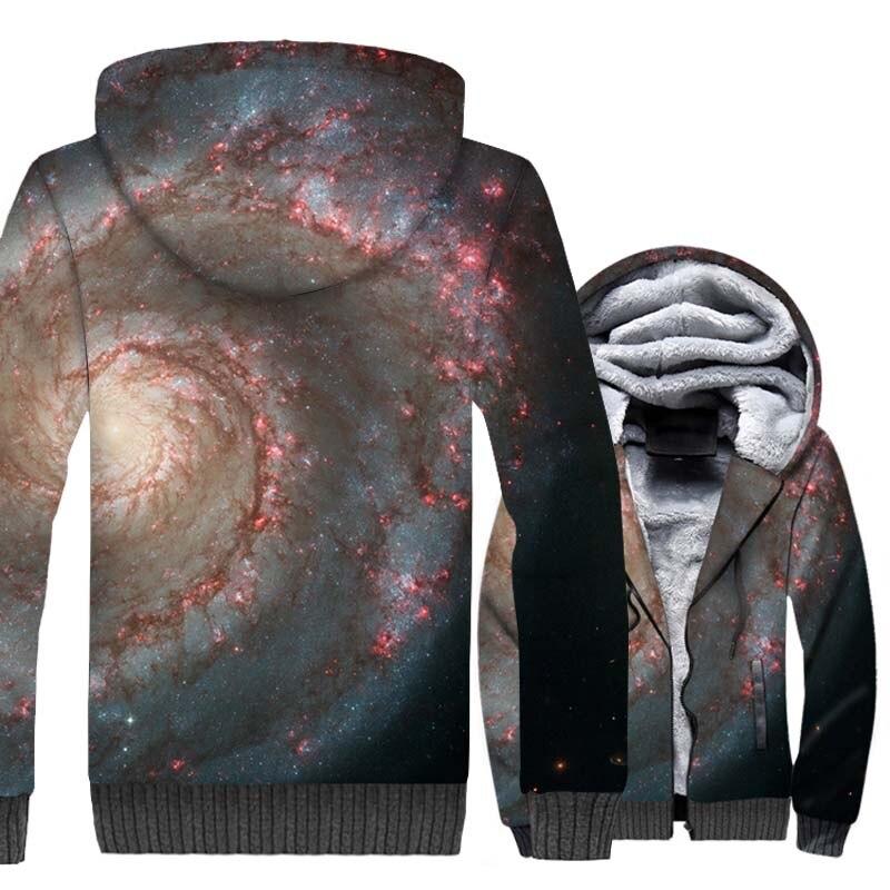 Vortex Star Nebula Hoodies 2018 3D Printed Hoodie Hip Hop Winter Thick Jacket For Men Harajuku Unisex Zipper Sweatshirt Coat Top