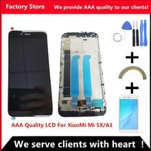 AAA איכות LCD עם מסגרת עבור XiaoMi Mi A1 LCD תצוגת החלפת מסך לxiaomi 5X/A1 LCD Digiziter הרכבה