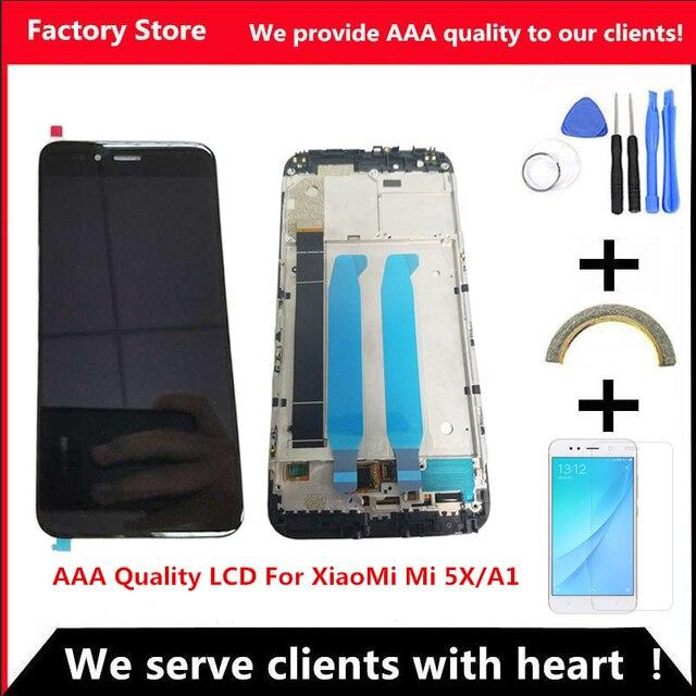 Высококачественный ЖК дисплей с рамкой для XiaoMi Mi A1, сменный ЖК экран для XiaoMi 5X/A1, ЖК дигитайзер в сборе