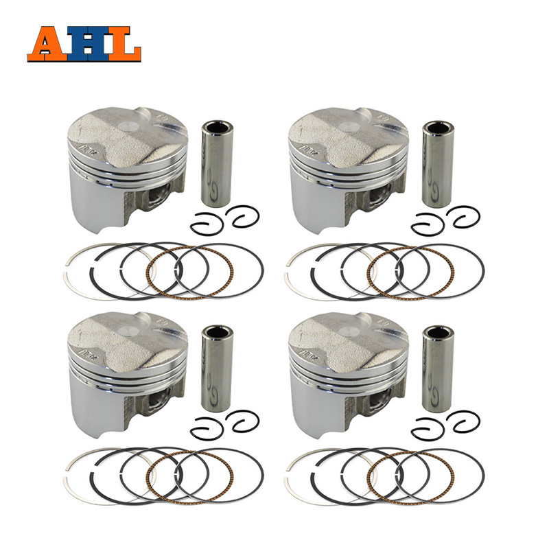 Motorcycle Engine Parts 25 Cylinder Bore Size 64 25mm: AHL 4 Sets Bore Size 55.25mm Piston & Rings Kit For HONDA