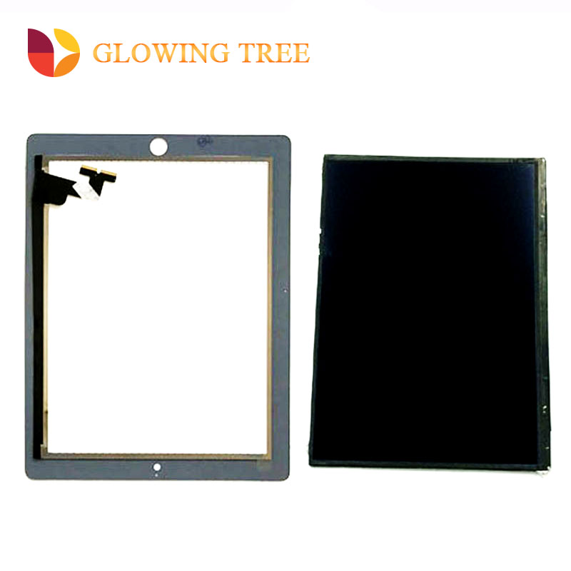 купить Black / White For iPad 2 A1376 A1395 A1397 A1396 Touch Screen Digitizer Sensor Glass + LCD Display Screen Panel Monitor по цене 2518.63 рублей