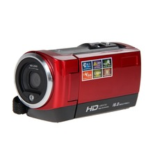 "1 Unids HD720P 16MP cámara de Vídeo Digital Dv Cámara DVR 2.7 ""TFT LCD de 16X ZOOM Cámara Rojo OD # S"