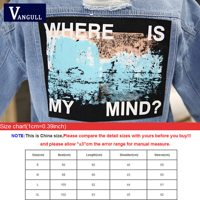 Women Frayed Denim Bomber Jacket Appliques Print Where Is My Mind Lady Vintage Elegant Outwear Autumn Fashion Coat 3