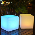 40cm Led Luminous Light Bar Stool Color Changeable Plastic Cube White Chair For Home Garden Club Party Decoration