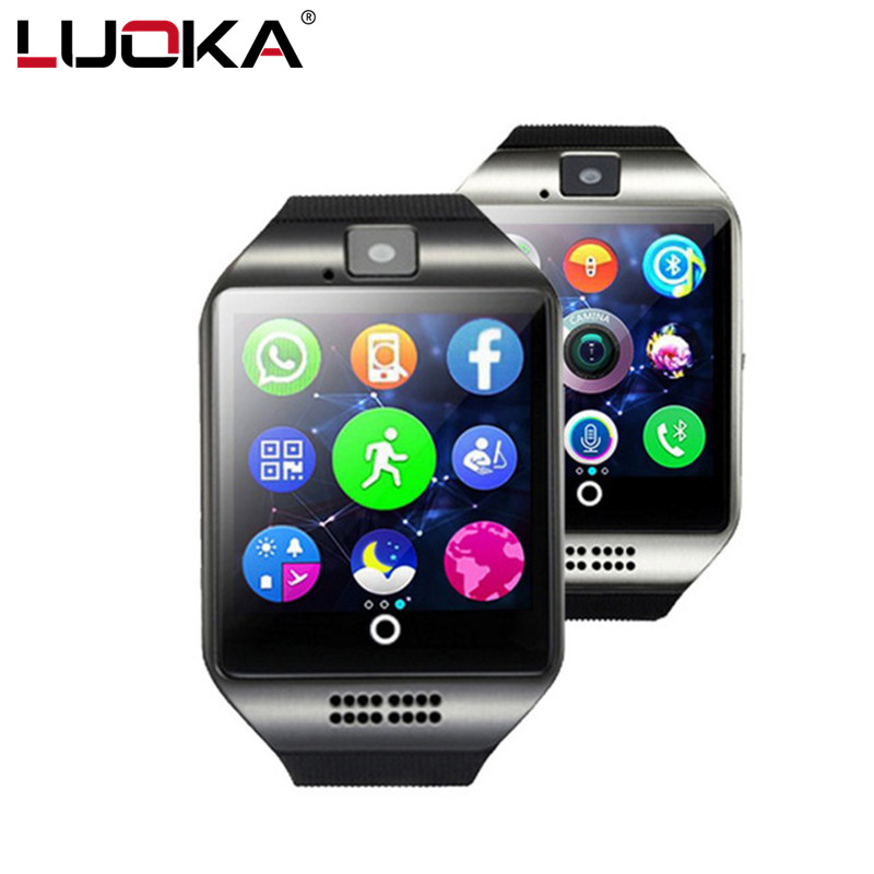 LUOKA LK18 Bluetooth Smart Watch With Camera facebook Sync SMS MP3 WristWatch Support Sim TF For IOS Android Phone pk GT08 DZ09