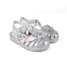 Melissa Shoes Summer New Roman Boy Girl Sandals Brazil Star Jelly Children Beach Non-slip Toddler