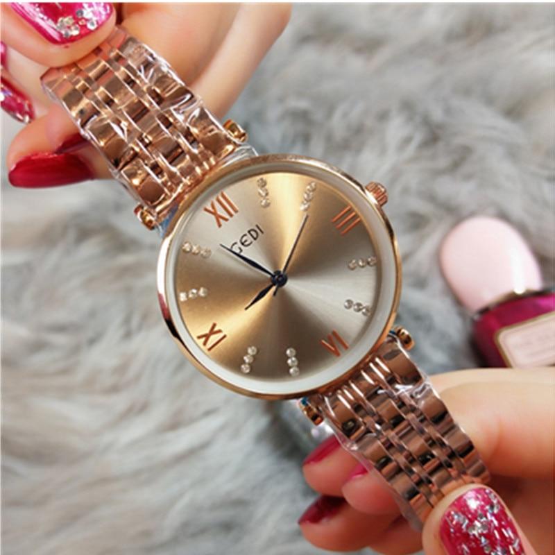 2019 Fashion Casual Ladies Simple Wrist Watch Girl Clock Female Creative Gift Relogio Women Watches Luxury Relogio Feminino in Women 39 s Watches from Watches