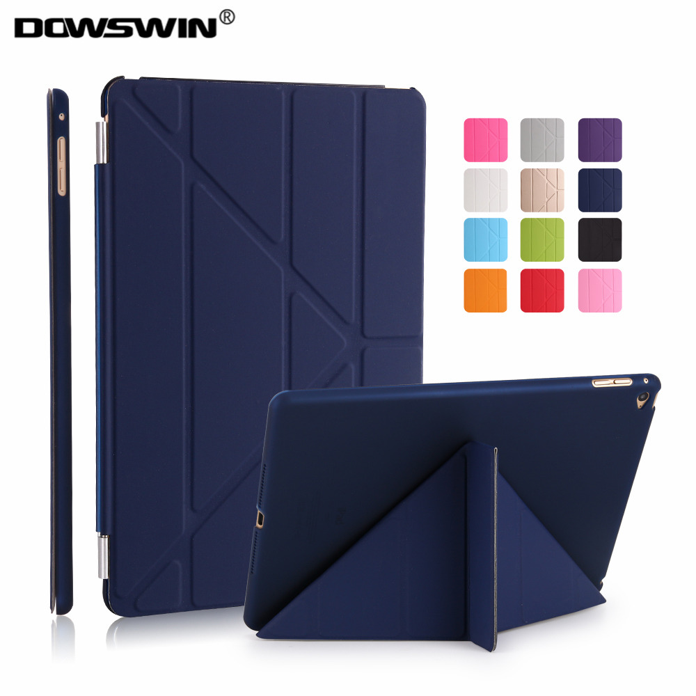 for ipad air 2 case,DOWSWIN ultra slim pu leather for ipad air 2 cover with hard plastic back cover flip case +small gift case for huawei honor 7x shockproof with stand 360 rotation back cover contrast color hard pc