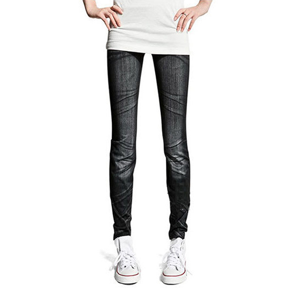 Stretching Denim Style Leggings
