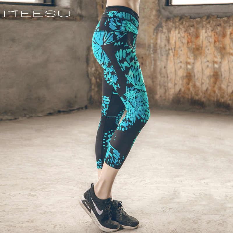 126be930cc2e2 Woman Sport Leggings High Waist Elastic nepoagym yoga Tights Fitness yoga  Cropped Gym