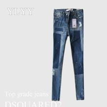 Europa calças de jeans wear lazer pano fino