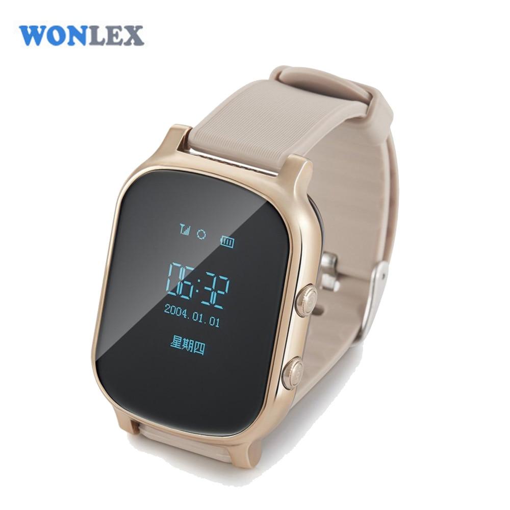 Wonlex GW700/T58 трекер позиционирования для пожилых людей, GPS, Смарт часы, SOS трекер безопасности, детский анти потерянный монитор для iOS Android