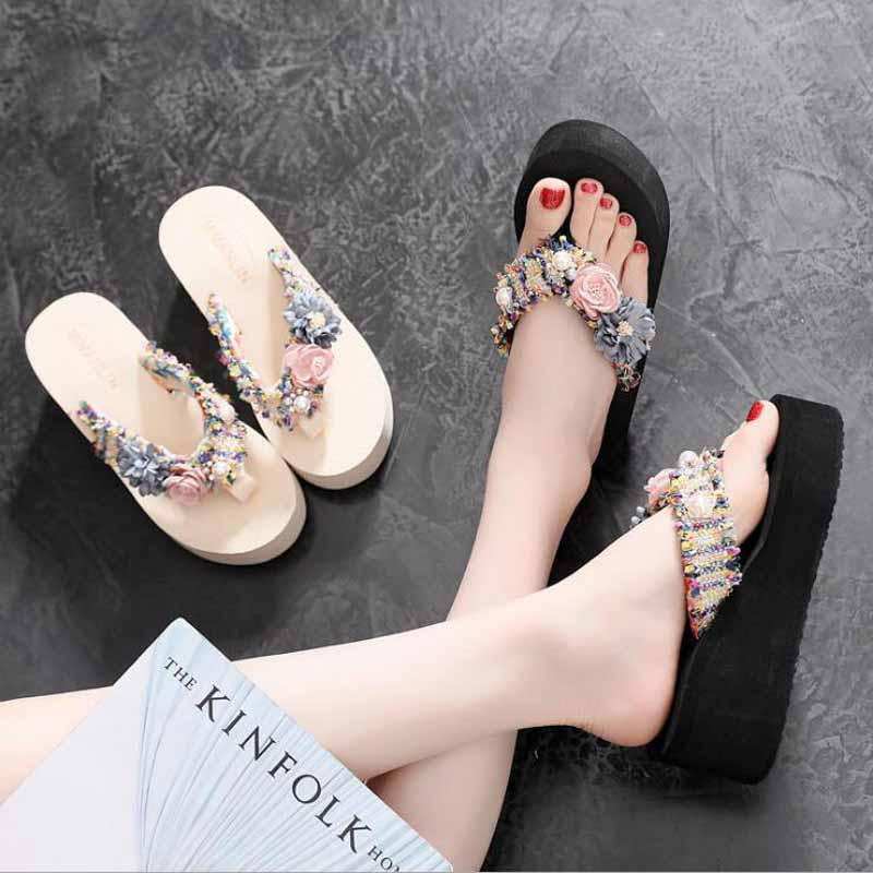 Womens Slippers Bowknot Pink Slipper Summer Flat Sandals Summer Vacation Beach Casual Indoor Shoes Flip Flops,Yellow,39,United States