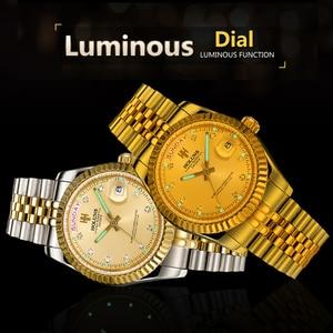 Image 4 - Holuns Mannen Horloges 2019 Luxe Top Merk Gold Diamond Rol Quartz Rvs Kalender Relogio Masculino Polshorloge Klok
