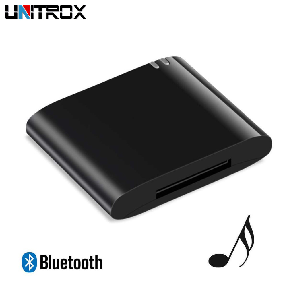 Hot Selling Portable 30 Pin Wireless Bluetooth Music Receiver Dock Audio Adapter Stereo A2dp For