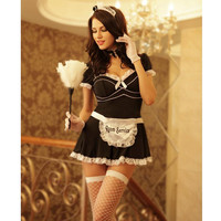 8512 2016 New Arrival Room Service Cosplay Sexy Lingerie Suit Free Shipping