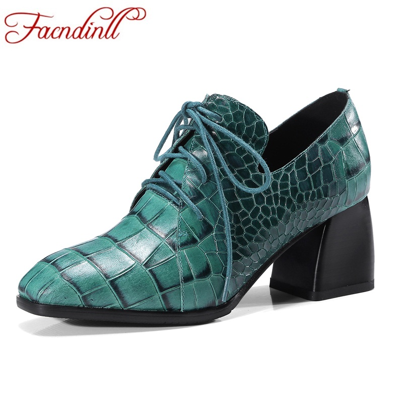 FACNDINLL women pumps shoes new fashion 2018 spring genuine cow leather high heels lace-up shoes woman dress party casual shoes fashion genuine leather shoes woman pumps 2016 new sexy wedges high heels round toe lace up women casual party shoes size 34 39