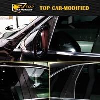 O Envio gratuito de Alta qualidade decoração da janela pilar De Fibra De Carbono B Pilar para Porsche macan