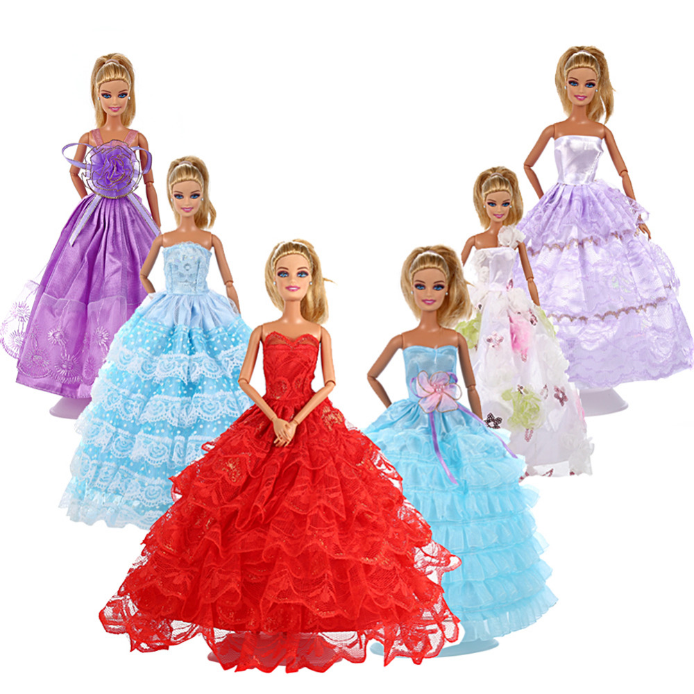 LeadingStar 6Pcs Multi Style Barbie Doll Handmade Fashion Wedding ...