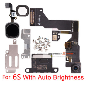 Image 5 - 1 セットのための iphone 6 6s プラスホームボタンフレックス + フロントカメラセンサー近接 + イヤホン + フルネジ + イヤホン金属修理部品