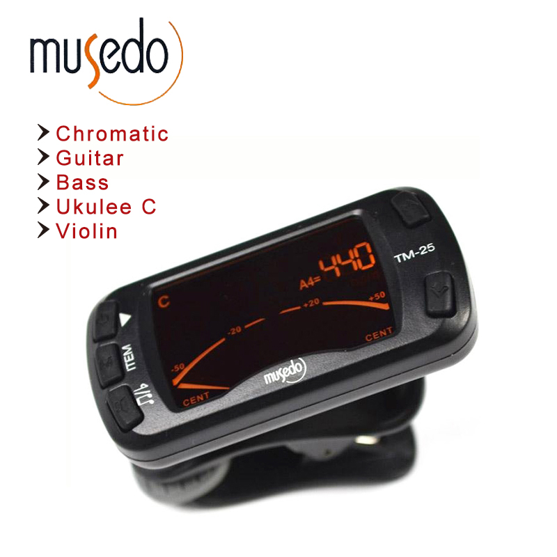 Musedo TM-25 Clip-on Electric Tuner & Metronome Guitar Chromatic Bass Violin Ukulele Universal Multifunction Portable portable clip on guitar tuner capo 2 in 1 for guitar bass chromatic multifunction universal aroma ac 05