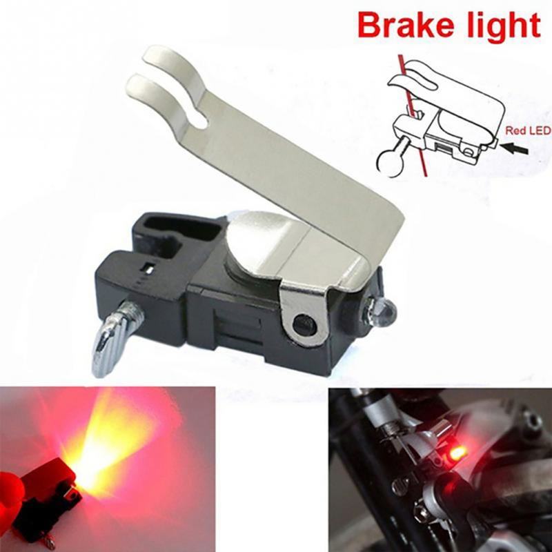 Bicycle Travel Brake Light Led Light Cycling Mountain Bike Brake Light For V-shape Brake