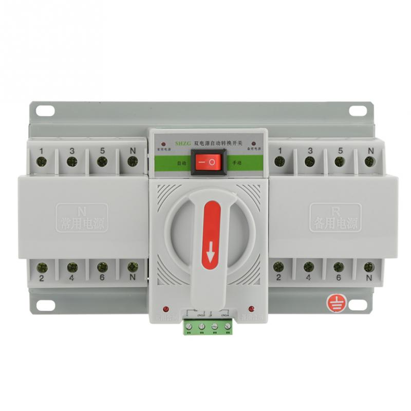 1 PC Dual Power Automatic Transfer Switch 220V Transfer Switch 63A 4P Mini Dual Power Automatic Transfer Switch Circuit Breaker бейсболка truespin cotton snapback green brown camo o s