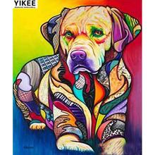 Yikee мультфильм собака алмазная живопись квадратные носороги