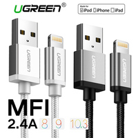 For MFi IOS 9 1 IPhone Cable Ugreen Metal Alloy USB Cable For Lightning To