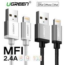 Ugreen Nylon Foudre au Câble USB pour iphone 2.1A Rapide Chargeur USB Câble de données pour iPhone 6 5 5S iPad iPod Mobile Téléphone Câbles