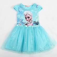 Pěkný dětský kostým pohádkové princezny Elsy z Ledového království