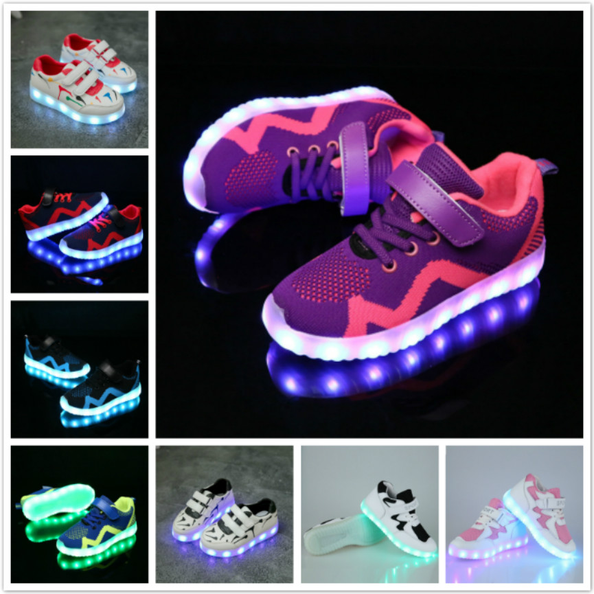 594b45d542b USB Charging Basket Led Child Shoes With Light Up Kids Luminous Sneakers 7  Colors Children's Glowing. Tμήμα. Παιδικά. Τύπος αντικειμένου. Casual  παπούτσια