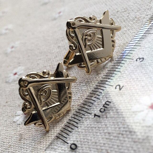 US $190 0 |100pairs wholesale Mason Cufflinks Hat Jacket All Seeing Eye  Freemasonry Masonic Cuff Link for Masonry sleeve button free masons-in Tie
