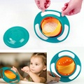 2016 Hot Sale Creative Gyroscope Baby Bowl Non Spill Feeding Toddler Gyro Cereal Bowl 360 Rotating Kids Avoid Food Spilling