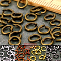 wholesale 300Pcs/pack Jump Rings & Split Rings Open Connectors 4mm Gold Silver Bronze Copper Black For Jewelry Making Craft DIY