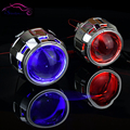 Auto / moto Styling 2.5 MH1 HID Bi xenon lente del proyector de luz LHD / RHD H7 H4 Retrofit con LED Devil Demon Eyes
